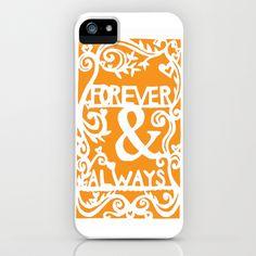 Forever & Always - Orange iPhone & iPod Case by Rachel Winkelman - $35.00