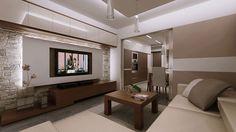 nowoczesna ściana tv - Szukaj w Google Bathroom Lighting, Flat Screen, Mirror, Google, Furniture, Home Decor, Design Interiors, Bed Room, Blood Plasma