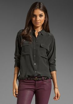 EQUIPMENT Signature Blouse in Black at Revolve Clothing - Free Shipping!