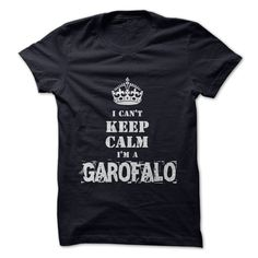 "Im a GAROFALOIf youre a GAROFALO then this shirt is for you! Show your strong GAROFALO pride by wearing this ""I Cant Keep Calm Im a GAROFALO"" shirt today.keep calm, crown, name"