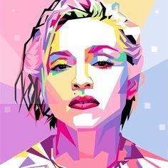 Madonna Wpap Pop Art Art Print by Ahmad Nusyirwan Pop Art Portraits, Portrait Art, Arte Pop, Pop Art Dibujos, Pop Art Drawing, Madonna Art, Pop Art Posters, We Will Rock You, Art Anime