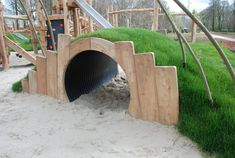 We design and build natural, stimulating 'habitats' and playgrounds that inv…, – natural playground ideas Kids Outdoor Play, Kids Play Area, Backyard For Kids, Childrens Play Area Garden, Playground Design, Backyard Playground, Playground Ideas, Outdoor Centre, Natural Playground