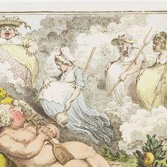 De Orangerie: De Hollandse Cupido, uitrustend van de vermoeienissen van het planten, 1796, James Gillray, 1796 - Search - Rijksmuseum