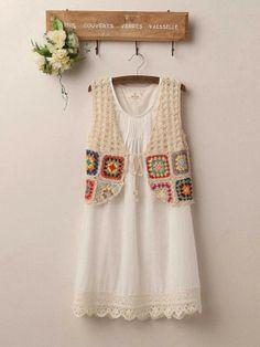 40 Trendy Ideas For Crochet Cardigan Boho Clothes Gilet Crochet, Crochet Jacket, Crochet Cardigan, Crochet Shawl, Crochet Stitch, Crochet Squares, Crochet Granny, Crochet Baby, Crochet Summer