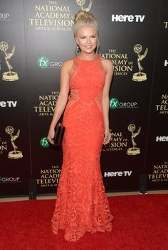 Kelli Goss Photos - Actress Kelli Goss attends The Annual Daytime Emmy Awards at The Beverly Hilton Hotel on June 2014 in Beverly Hills, California. - The Annual Daytime Emmy Awards - Arrivals Kelli Goss, Hunter King, Photo L, Awards, Actresses, Poses, Actors, Pure Products, Formal Dresses
