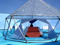 burning man blue structure - Google Search