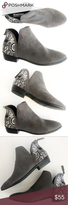 897e7727b4 KC REACTION NWOT Gray Embroidered Ankle Boot 6.5 DESCRIPTIONS  KENNETH COLE  REACTION NWOT Gray Loop