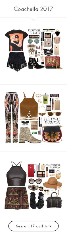 """""""Coachella 2017"""" by thecaitlinpeters ❤ liked on Polyvore featuring Topman, Roberto Cavalli, Ray-Ban, NLY Trend, New Look, Toga, Fallon, tarte, Charlotte Russe and NARS Cosmetics"""