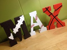 "5"" Free Standing Hand Painted Letters - Sports on Etsy, $12.00"