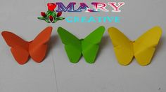 Mary Creative – Origami #8 |How to make paper butterfly tutorials | easy...