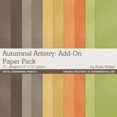 Autumnal Artistry Add-On Paper Pack - Digital Scrapbooking Papers