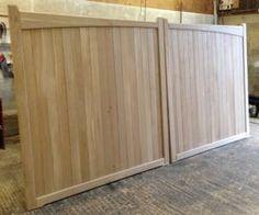 Hardwood Oak Wooden Driveway Gates - Flat top scalloped