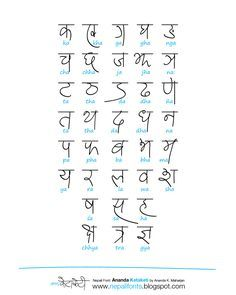 hindi calligraphy fonts alphabets - Google Search