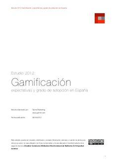 Estudio 2012-gamificacion-spanish-version by Rosa Bermejo, via Slideshare