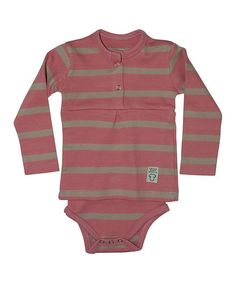 Look at this #zulilyfind! Pink Stripe Skirted Bodysuit - Infant by Those Baby Basics #zulilyfinds