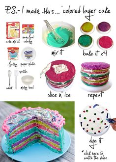 P.S.- I made this... Colored Layer Cake  #DIY #PSIMADETHIS #CAKE
