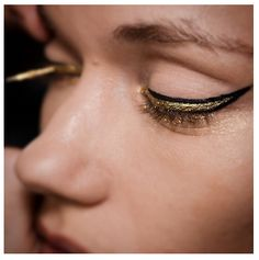 Kultstatus | K A L O N | Double gold-rimmed eyes at @theblondsny's #SS15 show.