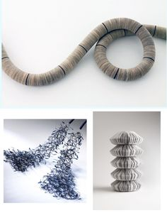 Contemporary paper jewelry by Angela O'Kelly Paper Jewelry, Paper Beads, Jewelry Crafts, Jewelry Art, Jewelry Accessories, Jewelry Design, Newspaper Paper, Paper Art, Paper Crafts