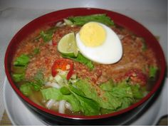 Laksa Asam Asian Recipes, Ethnic Recipes, Laksa, Thai Red Curry, Breakfast, Food, Morning Coffee, Essen, Meals