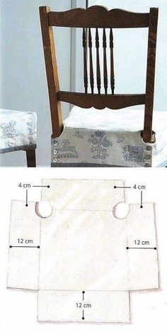 "chair cover sewing ""creating slip cover for dining chairs"" Sewing Crafts, Sewing Projects, Diy Projects, Diy Crafts, Fabric Crafts, Furniture Covers, Diy Furniture, Seat Covers For Chairs, Chair Cover Diy"