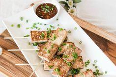Sesame tofu skewers