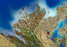 A delta in the Mackenzie River, Canada