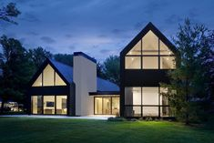 Woven House is the pure distillation of what a house is—every detail emphasizes the basic elements and forms of a familiar residential . Modern Barn House, Contemporary Barn, Farmhouse Architecture, Architect House, House Roof, Scandinavian Home, Future House, Interior And Exterior, House Plans