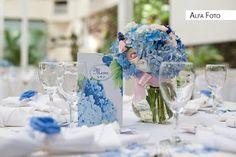 Abba Flowers: Azul e rosa!!! Lindo!!!
