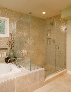 I like the walk-in shower with bench, all attached to the bathtub surround. bathrooms