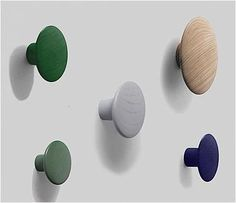 Check out the Muuto Coatrack Dots in Coat Racks, Domestic Science from Huset for Cute Bedroom Ideas, Coat Hooks, New Perspective, Icon Design, Color Combinations, Projects To Try, Dots, Organization, Wall