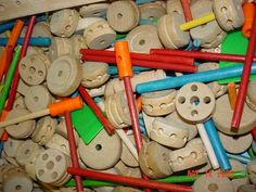 My Tinkertoys were made out of WOOD!  By the time my little brother got some, they were plastic.  Lame.