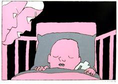 Pushwagner - En dag i familien Manns liv: nr 32 - Sov godt III James Rosenquist, Claes Oldenburg, Jasper Johns, Roy Lichtenstein, Art Pop, Andy Warhol, Norway, Scandinavian, Snoopy
