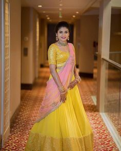Be The Sunshine Of The Event In These 15 Yellow & Lime Green Lehengas Indian Fashion Dresses, Indian Bridal Outfits, Indian Gowns Dresses, Dress Indian Style, Indian Designer Outfits, Skirt Fashion, Indian Wedding Gowns, Punjabi Wedding, Women's Fashion