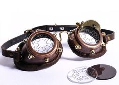 Gothic Steampunk goggles brown