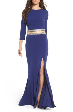Way-In Embellished Two-Piece Gown available at #Nordstrom