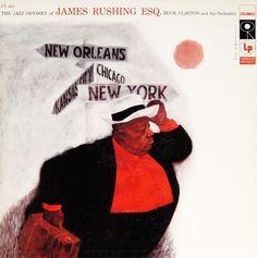 "The Jazz Odyssey of James Rushing Esq. Label: Columbia 963, 12"" LP, 1956 Illustration: Tom Allen Design: Neil Fujita"