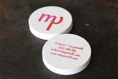 40 top examples of letterpress business cards.