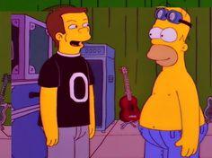 """Billy Corgan, Smashing Pumkins.""  ""Homer Simpson, smiling politely.""  I love this episode!! Homerpaloza!!!"
