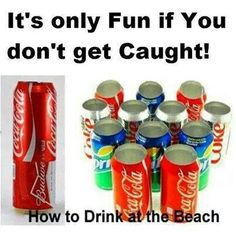 How to hide your beer can at the beach this fourth of July...