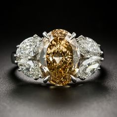 Rare Natural Orange Diamond Ring $33,000 http://www.langantiques.com/products/item/10-3-6861