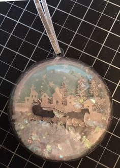 stunning ornament made with sleigh ride edgelits dies by Linda Madison