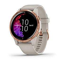 Garmin Venu Light Sand w/ Rose Gold Hardware Sports Fitness Watch Wi Fi, Running Watch, Aqua, For You Song, Rose Gold, Fitness Watch, Heart Rate, Fitness Tracker, Porto
