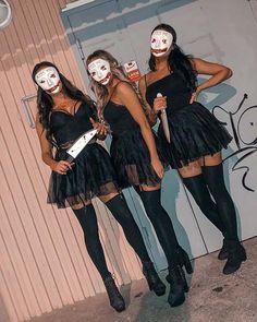 Girl Group Halloween Costumes, Black Girl Halloween Costume, Cute Group Halloween Costumes, Looks Halloween, Trendy Halloween, Halloween Outfits, Women Halloween, Family Halloween, Scariest Halloween Costumes