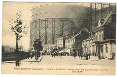 EAST GREENWICH GASOMETER C.1910 Greenwich London, London History, Old London, Towers, Vintage Images, Old Photos, England, Industrial, Prints
