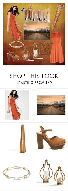 """""""Never Look Back"""" by amartin10 ❤ liked on Polyvore featuring Ted Baker, Olsen, Pottery Barn, Grandin Road and Ippolita"""