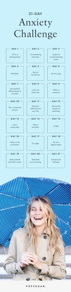 Feeling stressed or anxious? Here's a 21-day challenge to help you get through it and on your way to stress-free living.