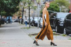 The Most Authentically Inspiring Street Style From New York #refinery29  http://www.refinery29.com/2015/09/93788/ny-fashion-week-spring-2016-street-style-pictures#slide-57  The new jumpsuit is as shapeless as possible....