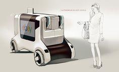 Autonomous delivery vehicle and the system for Seoul Korea Car Design Sketch, Car Sketch, Robot Design, City Car, Unique Cars, Machine Design, Small Cars, Transportation Design, Mobile Design