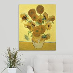 3rd Version 1888 By Vincent Van Gogh Hand Painted Oil Painting Reproduction Replica Wall Art Canvas Painting Repro Refreshment Sunflowers