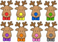 rudolph the red nosed reindeer printables | Explore the similiarities and differences between living in a town and ...